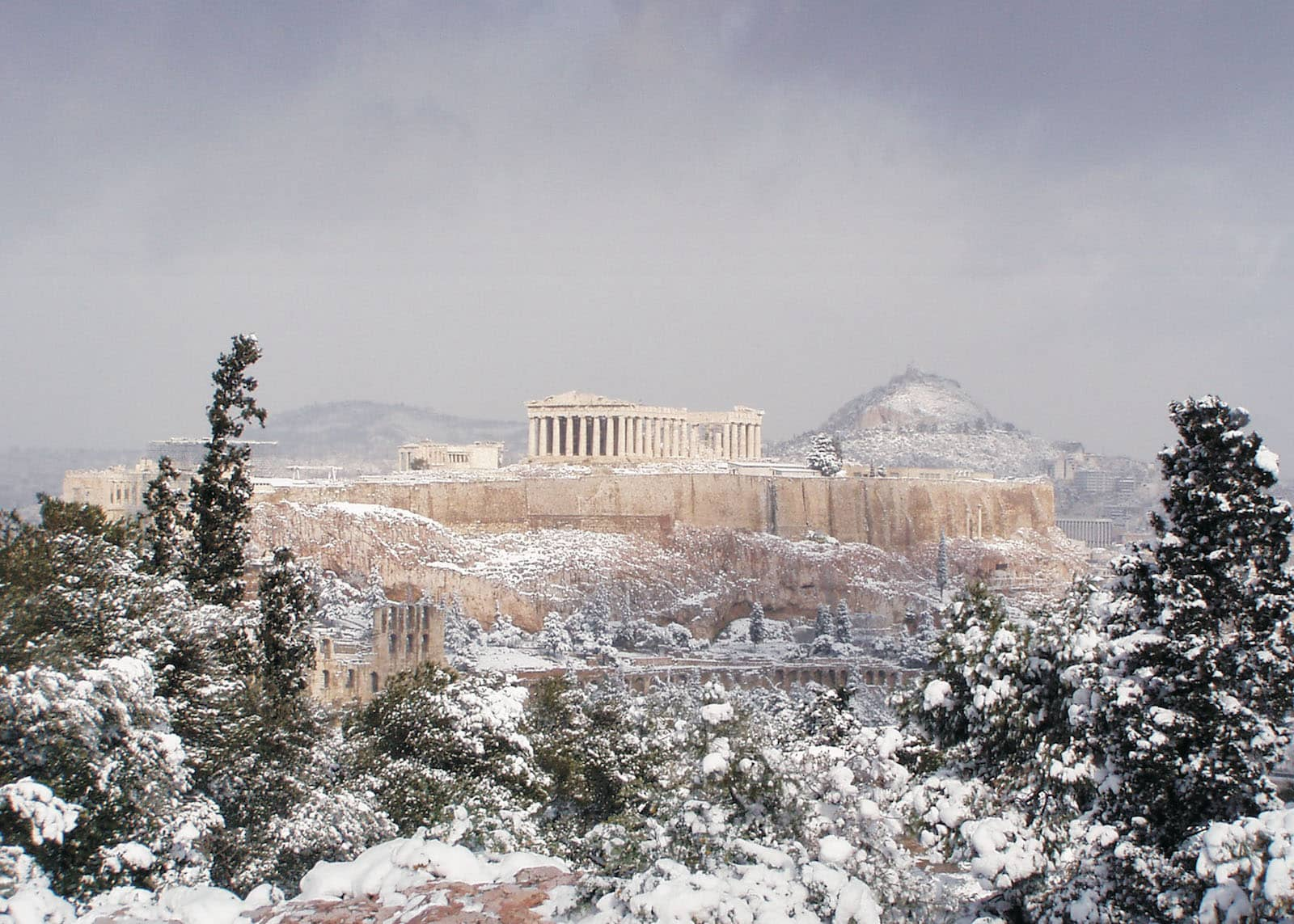 Snow In Acropolis2