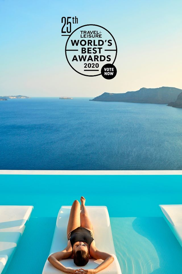 Canaves Oia Nominated In 2020's Travel + Leisure World's Best Awards